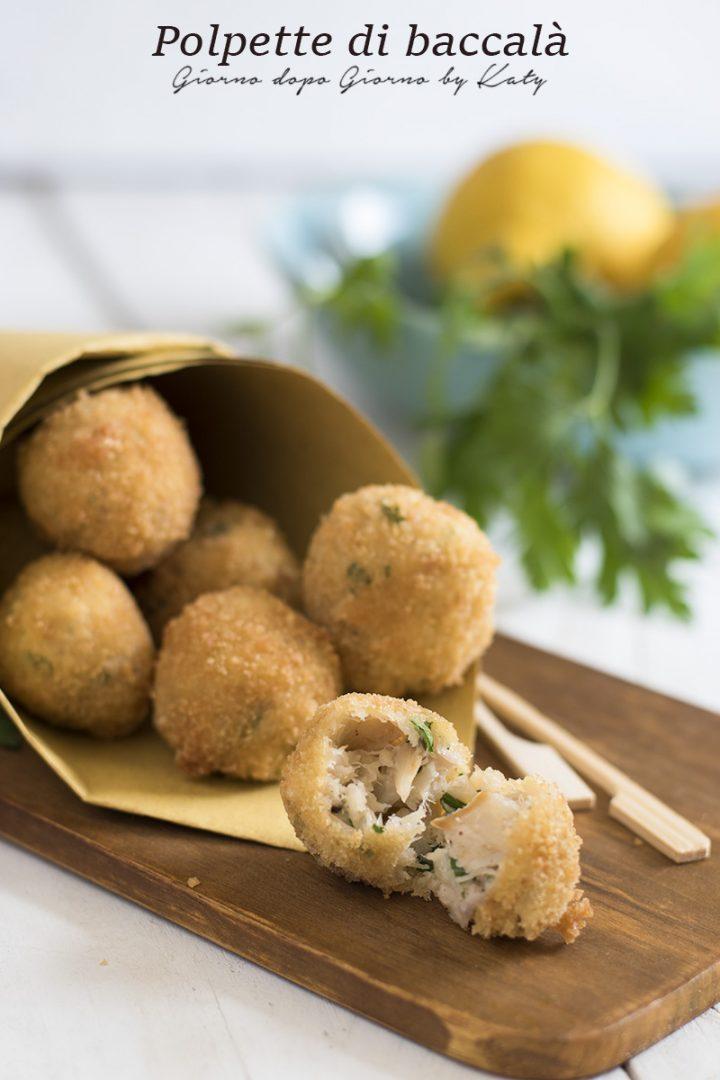 polpette di baccalà alla marchigiana ricetta tipica regionale di pesce come contorno o secondo piatto