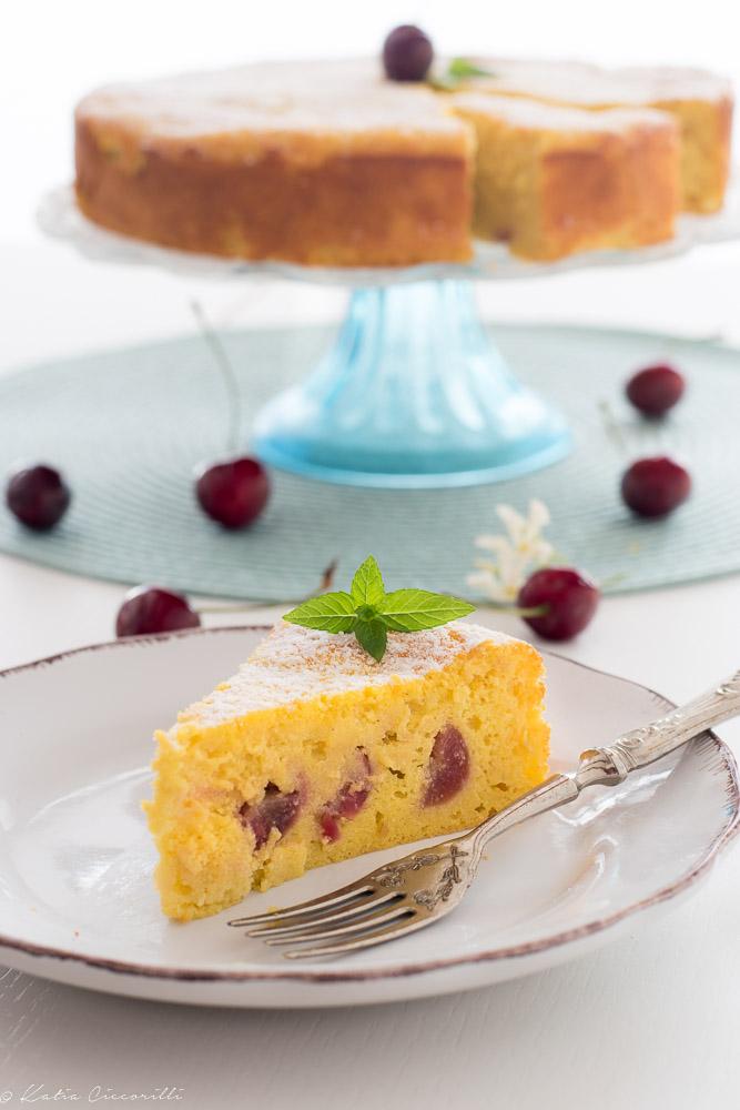 Torta di ricotta e ciliegie ricetta dolce desser di stagione frutta fresca