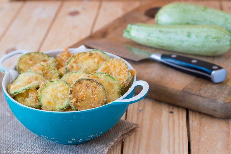 Zucchine fritte con la mollica