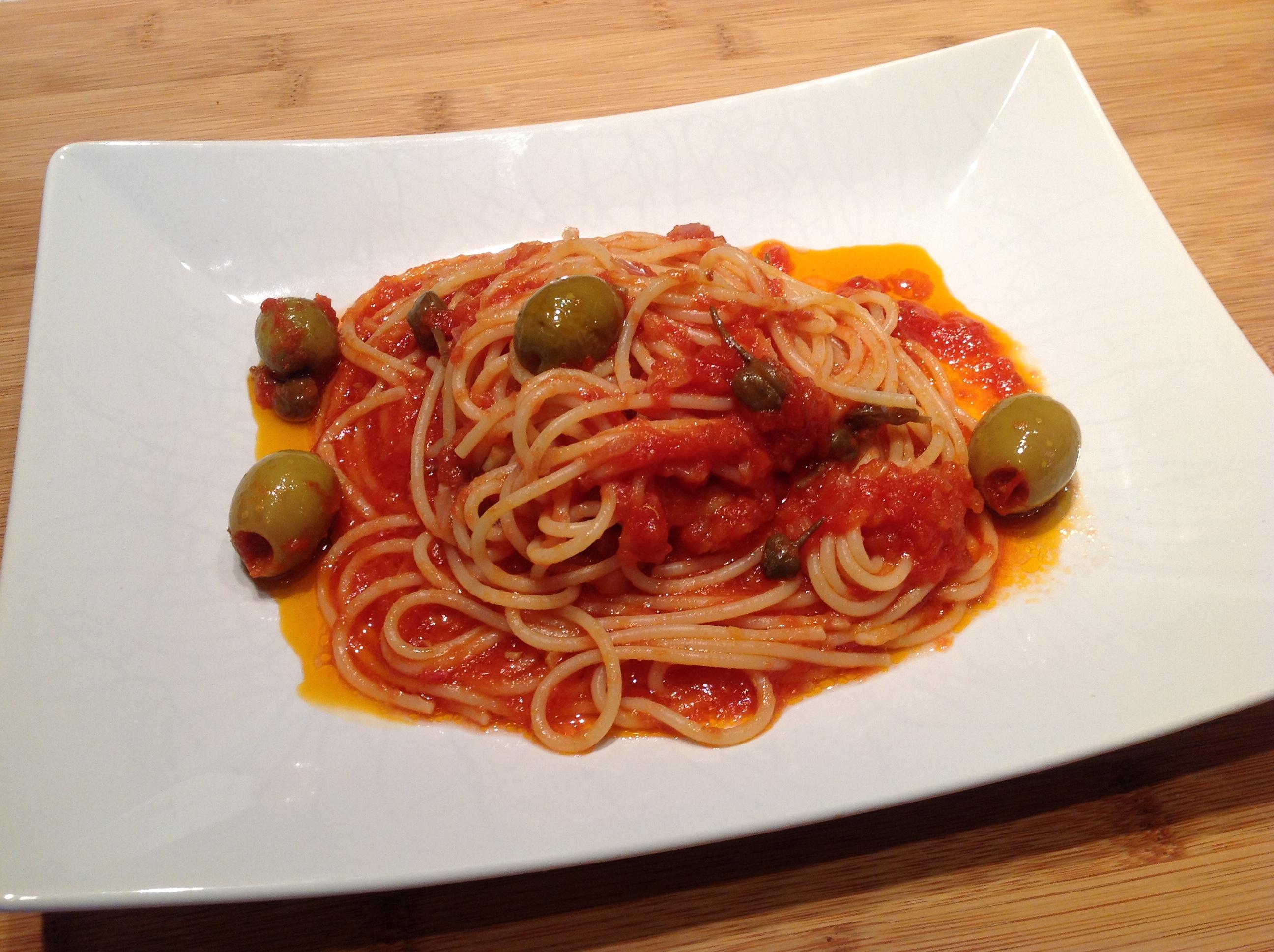 Spaghetti a' ghiotta di pesce
