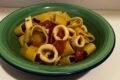 Calamarata con calamari e pomodorini