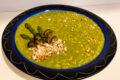 Risotto con asparagi, funghi chiodini e mandorle