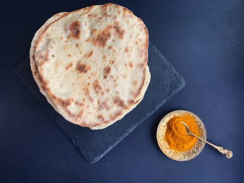 Pane naan: pane indiano senza lievito