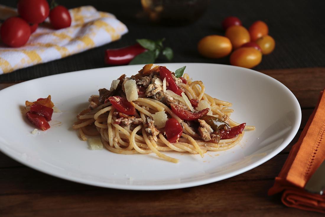 spaghetti con alici