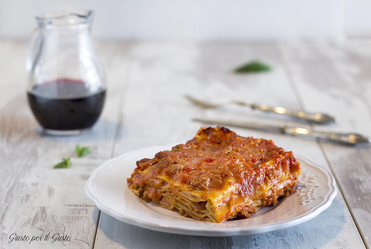Lasagne con provola e ragù