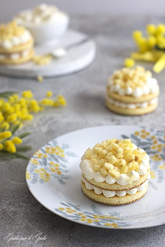 cream tarte mimosa monoporzione
