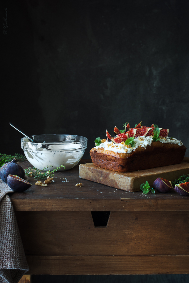 Plumcake salato fichi