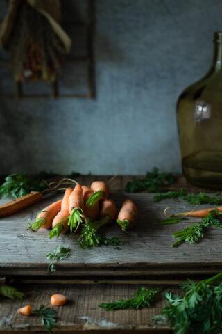 Food phototgraphy. Carrots