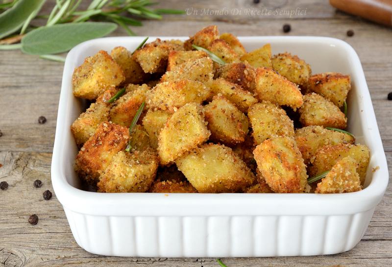Patate al forno gratinate | Ricetta patate croccanti e saporite
