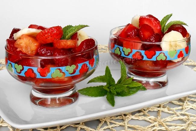 macedonia di fragole