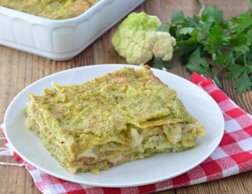 Lasagne broccolo e polpa di granchio