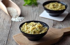risotto con patate dolci e funghi