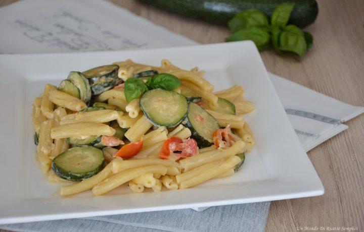 Pasta con le zucchine cremosa