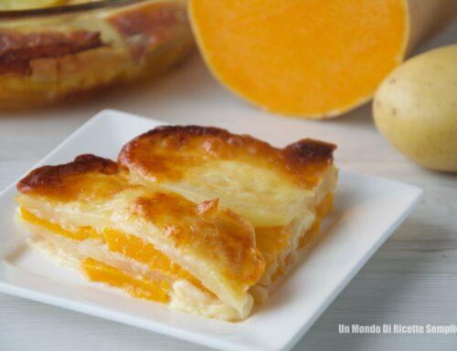 Sformato di Zucca Patate e Formaggio