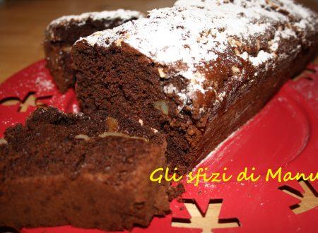 Plum cake cioccolato e pere al profumo di arancia e cannella