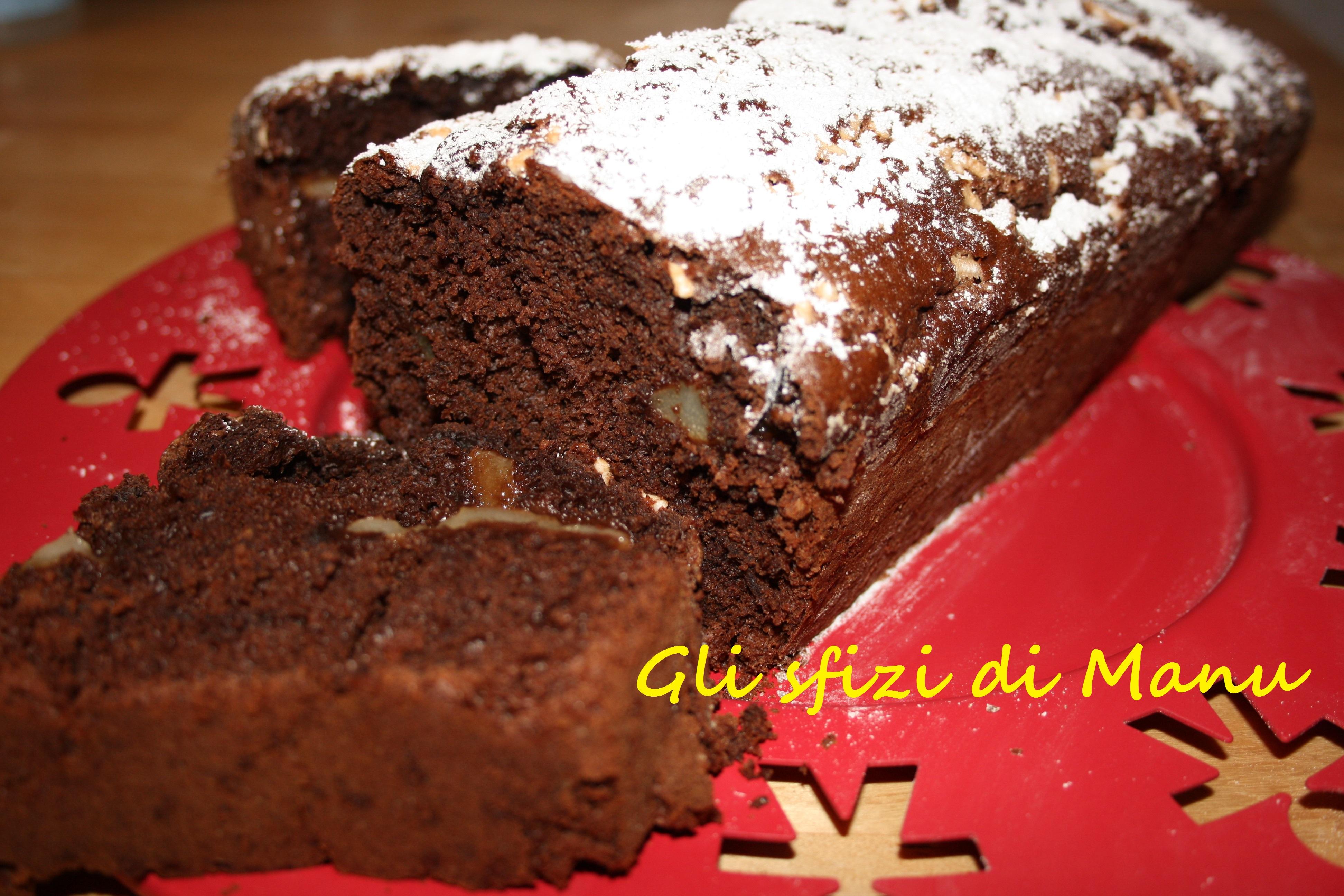 Plum cake al cioccolato con pere