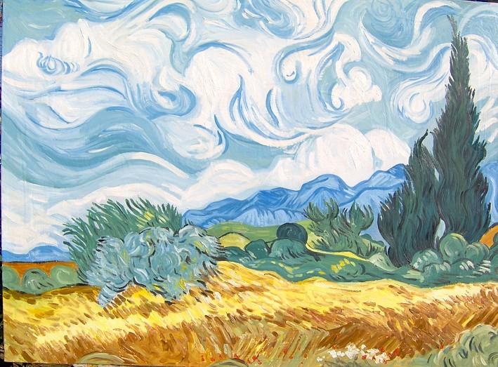 Van gogh racconti di campi di grano mandorli in fiore e for Quadri famosi da colorare van gogh