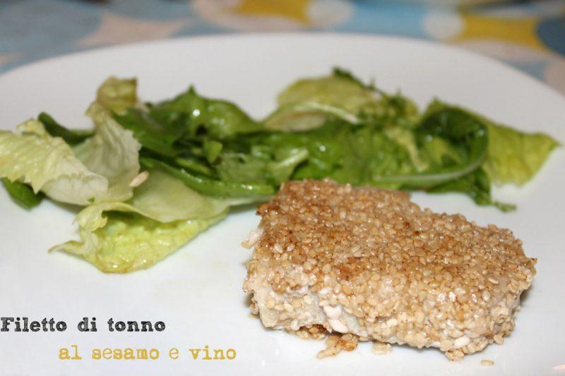 Filetto di tonno al sesamo e vino bianco