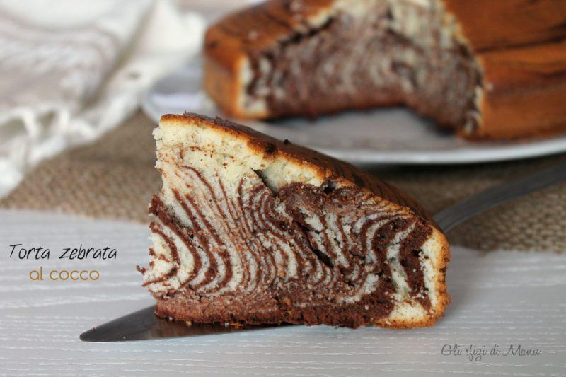 Una zebra a pois, torta zebrata cacao e cocco
