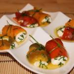 rotolini di peperoni con formaggio fresco
