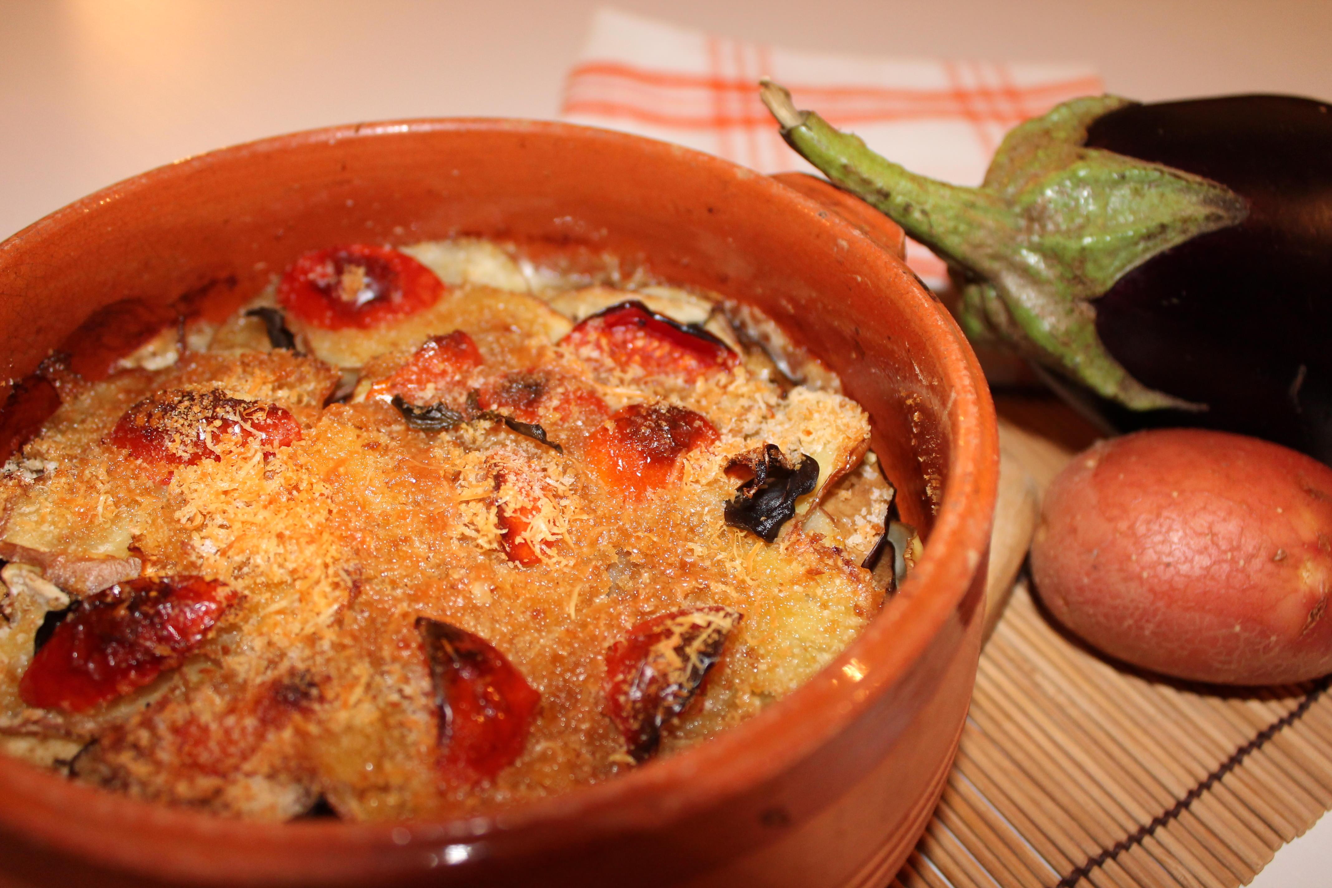 tortino patate melanzane mozzarella