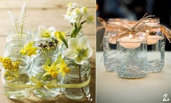 Riciclo creativo di barattoli di vetro gli sfizi di manu - Barattoli decorati shabby ...
