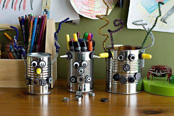 Ben noto Stappa la creatività! Riciclo di lattine e barattoli. | Gli sfizi  AR54