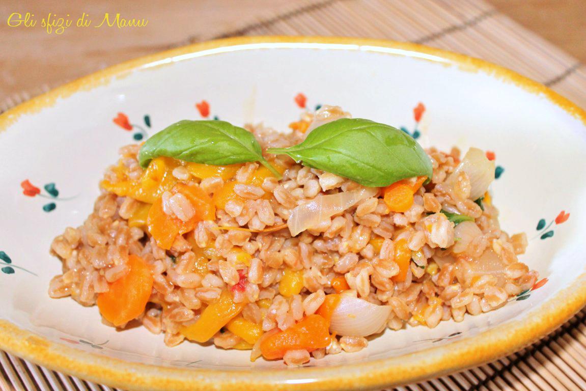 farrotto peperoni e carote
