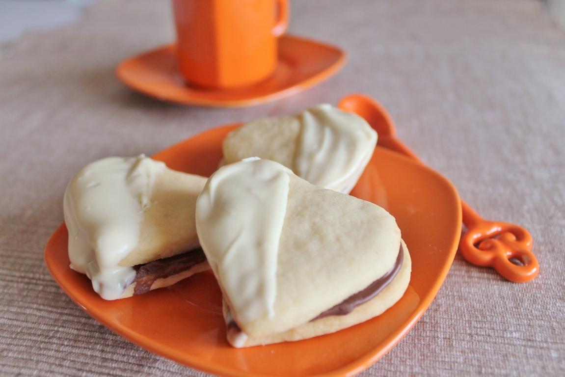 frollini al burro con nutella e cioccolato bianco