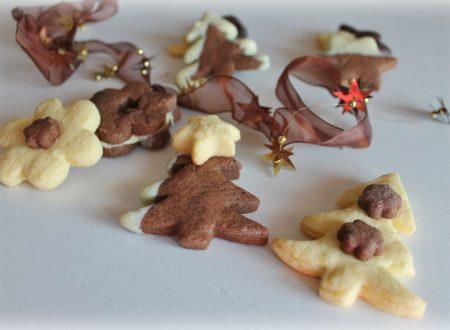 Biscotti natalizi bicolore