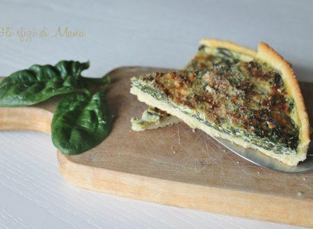 Quiche di spinaci e ricotta forte