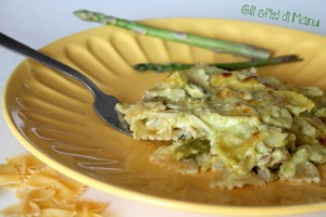 pasta agli asparagi al forno