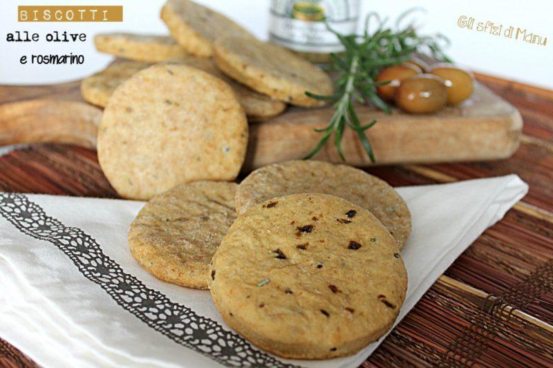 Biscotti salati alle olive e rosmarino