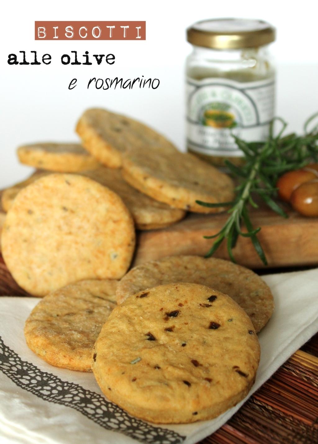 biscotti alle olive e rosmarino