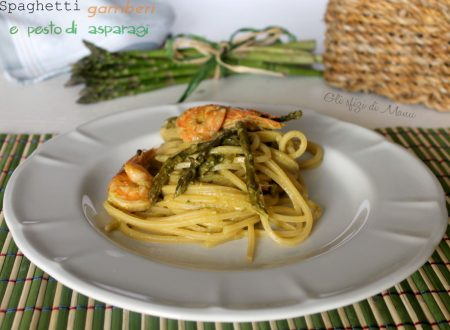 Spaghetti gamberi e pesto di asparagi