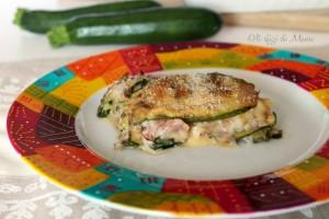 parmigiana bianca di zucchine senza frittura