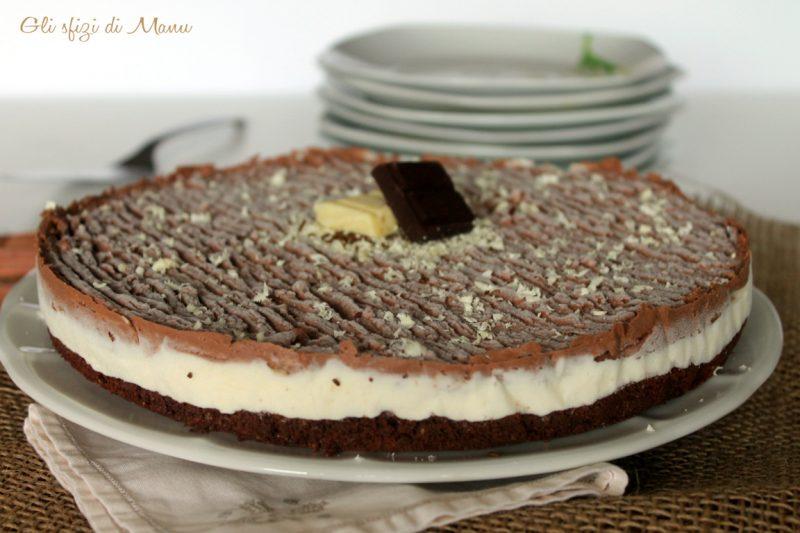 Torta fredda al doppio cioccolato