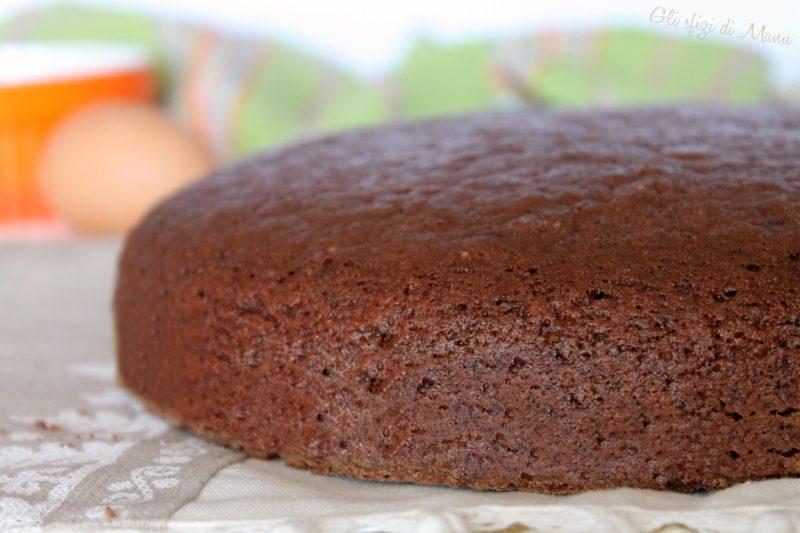 Pan di spagna al cacao con poche uova