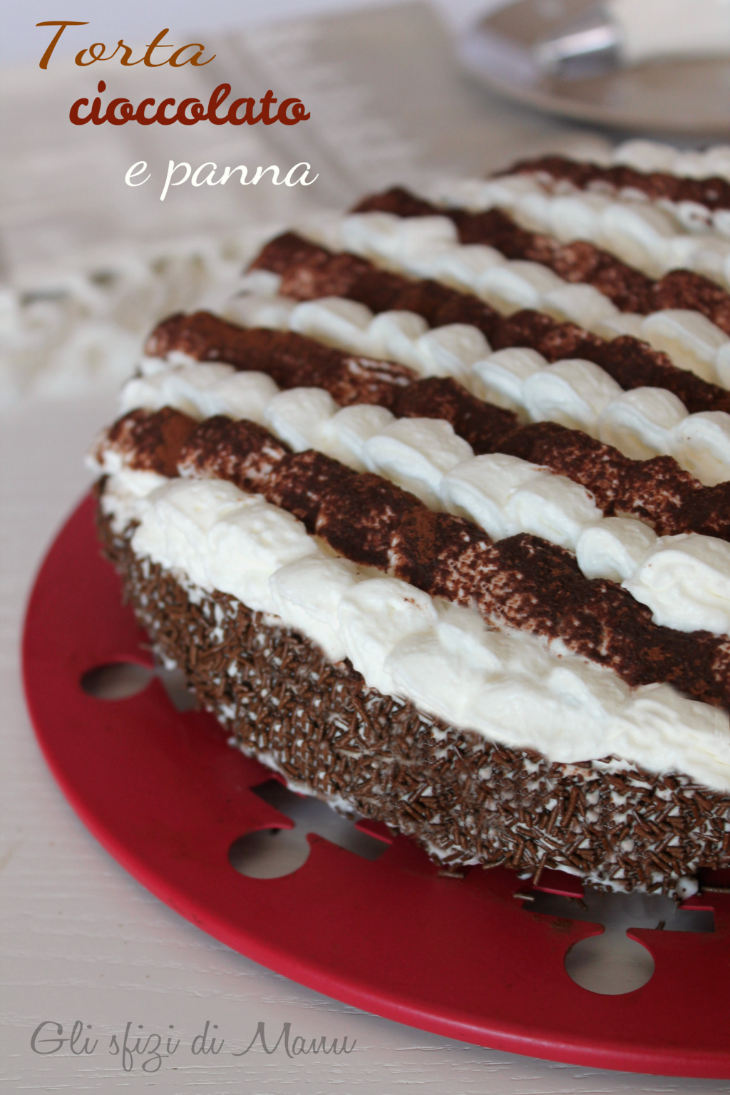 torta cioccolato e panna