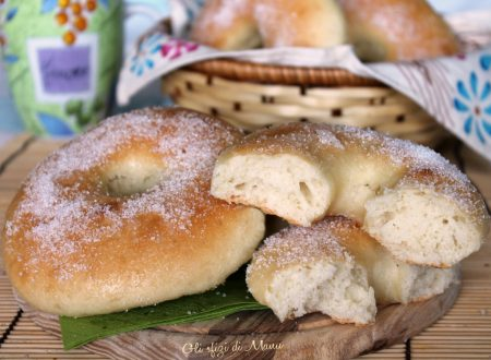 Ciambelle zuccherate al forno senza uova