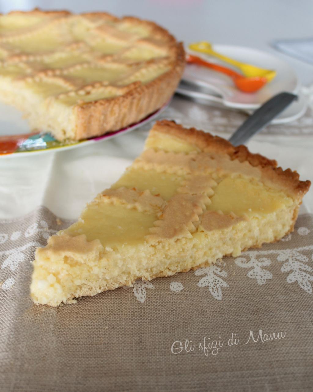 crostata di crema e ricotta
