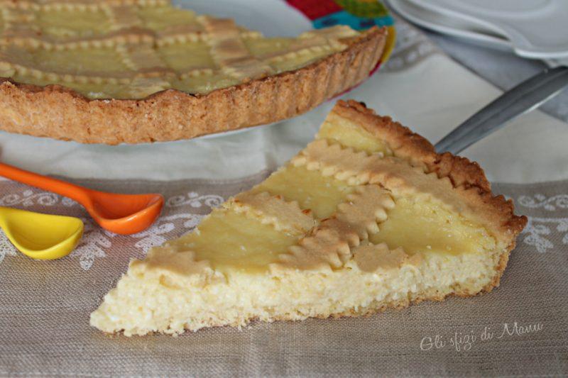 Crostata di crema e ricotta con frolla croccante