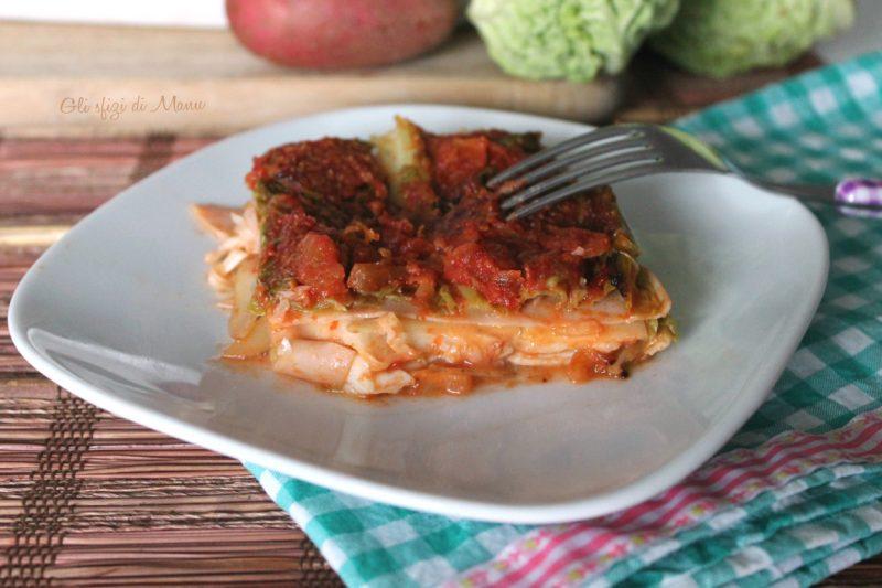 Lasagne di verza e patate