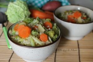 Minestra di verza e carote