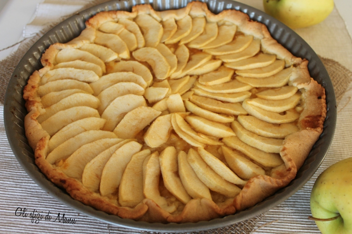 Crostata alla crema di mele gli sfizi di manu in un sol for Crostata di mele