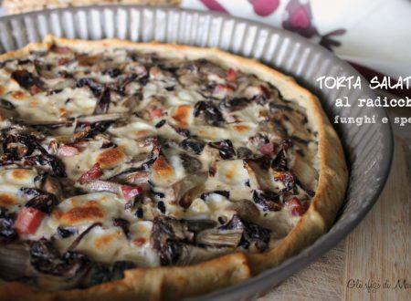 Torta salata al radicchio funghi e speck