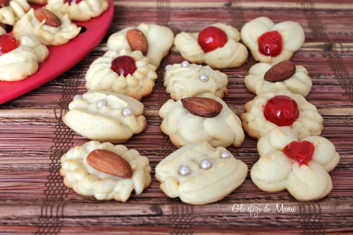 biscotti di frolla montata, con sparabiscotti | gli sfizi di manu ... - Decorazioni Con Biscotti