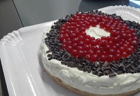 Cheesecake ribes e cioccolato fondente