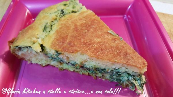 Torta di Pan di Spagna al Parmigiano con Ricotta e Spinaci di Gloria KitchenUSA