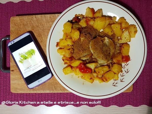 Finocchi Gratinati con Patate al Pomodoro Saporito di Gloria KitchenUSA1